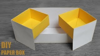 DIY Paper Box Organizer - DIY Activities with Paper