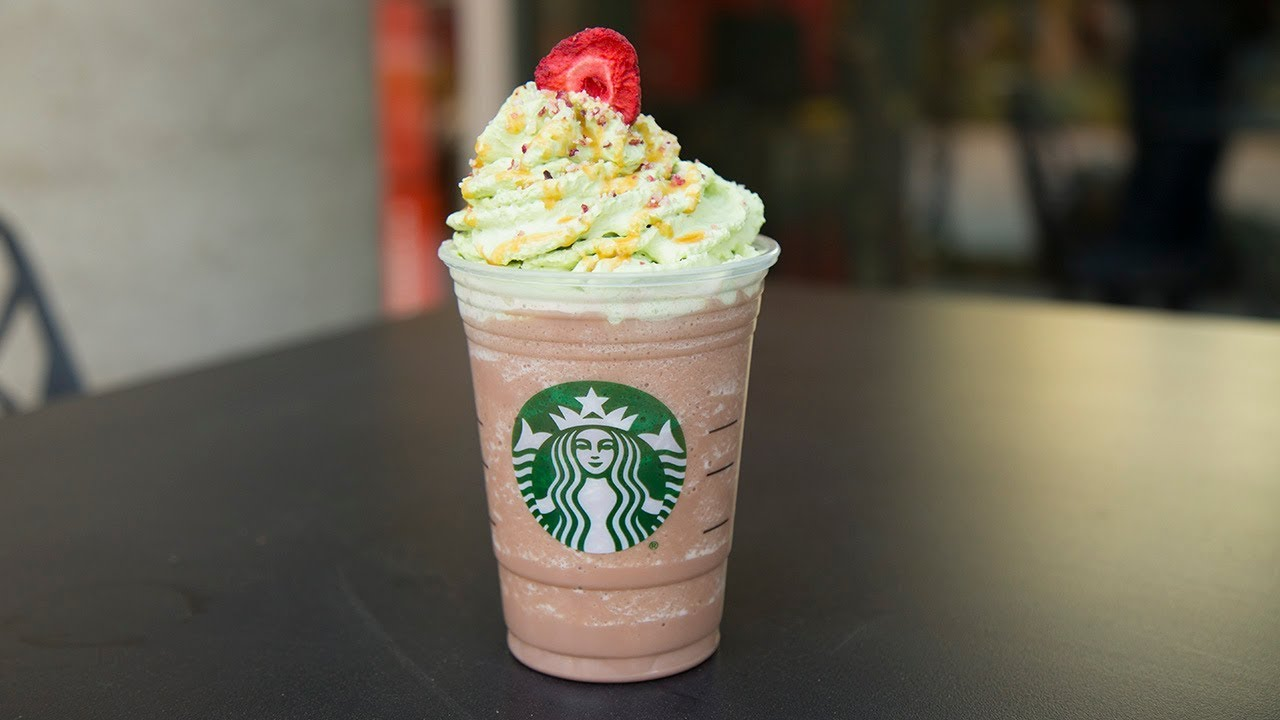Meet Starbucks Festively Sweet Christmas Tree Frappuccino Youtube