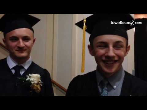 Lowell Middlesex Academy Charter School #graduation. Grads happy for 2nd chances. @Lowellsunnews #‎s