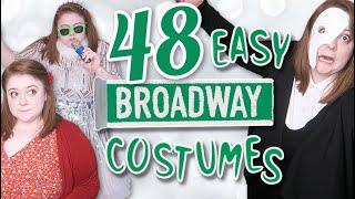 48 last minute easy diy broadway costumes!