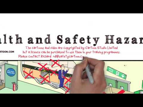 Office health and safety hazards - whiteboard animation