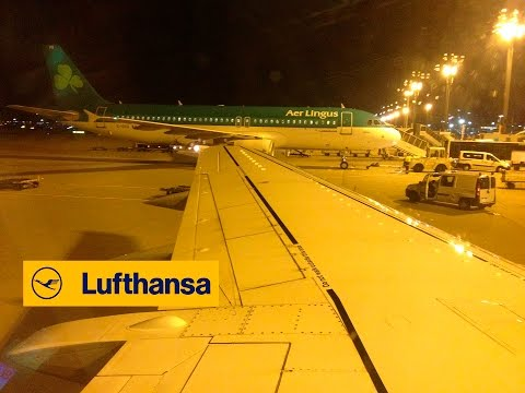 Lufthansa Boeing 737-500 Noisy Brakes Landing At Aberdeen