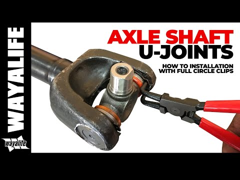 How to Install a U-Joint w/ Full Circle Clips onto a Jeep Front Axle Shaft