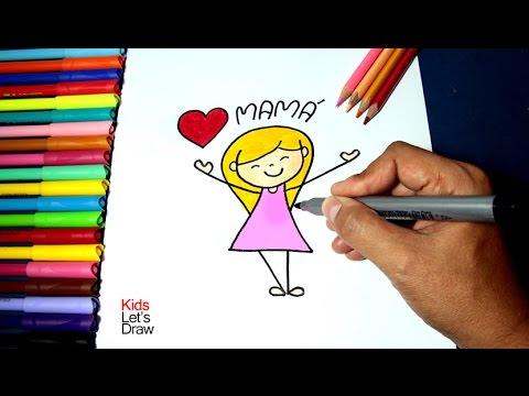 Cómo Hacer Un Dibujo Para Mamá En 2 Minutos Paso A Paso Día De La Madre Kidsletsdraw