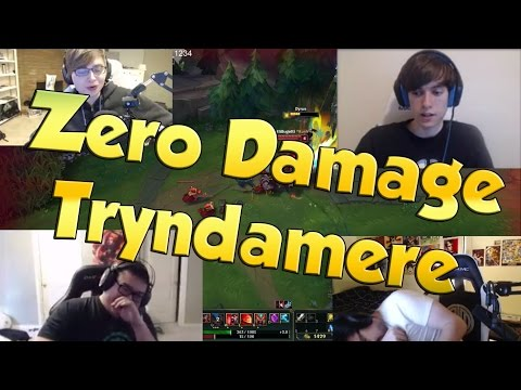 ZERO DAMAGE TRYNDAMERE! - LoL Funny Stream Moments #15