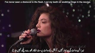 Lorde Royals Live On Letterman Lyrics With Urdu Subtitles