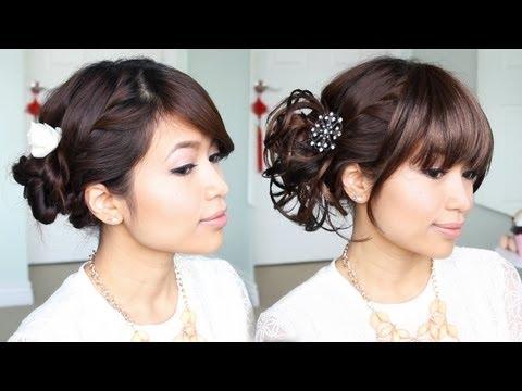everyday-hair-bun-to-elegant-prom-updo-hairstyle---bebexo