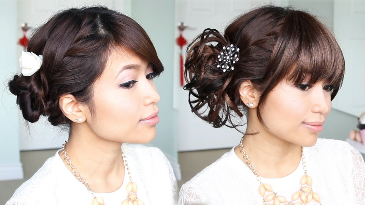 Everyday Hair Bun to Elegant Prom Updo Hairstyle - Bebexo - Hair Style For Girls For Wedding Step By Step