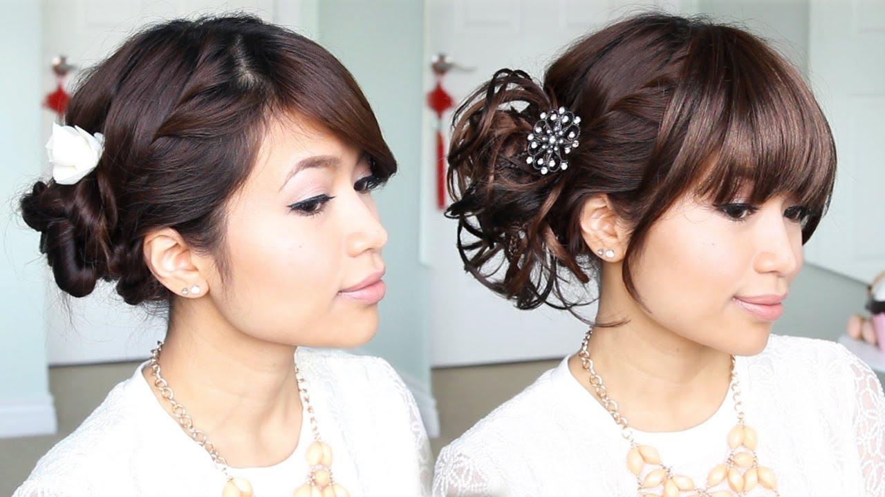 Everyday Hair Bun To Elegant Prom Updo Hairstyle Bebexo