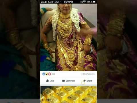 Gold everywhere | so much gold | bride | Kerala | Tamil nadu