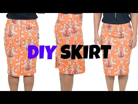 DIY SkirtHow To Sew A Skirt* beginners sewing project