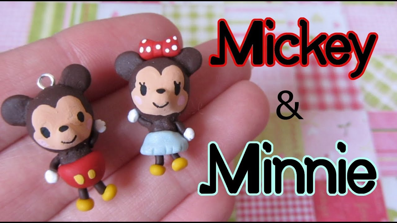 Mickey & Minnie Mouse Tutorial: Polymer Clay Charm Pair
