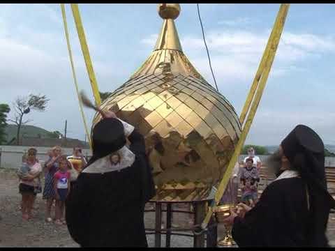 На острове Путятина завершается строительство православного храма Сергия Радонежского