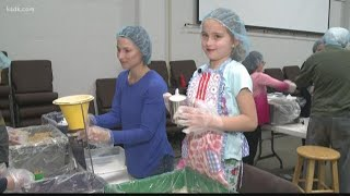 Volunteers help to feed the hungry in Chesterfield