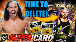 MATT HARDY WM34 CARD COMPLETED FROM RTG ALSO CHALLENGE PACK OPENINGS Noology WWE SuperCard S4