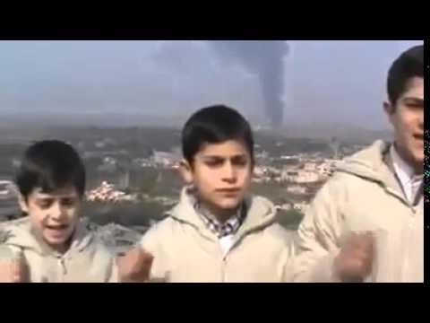 Palestinian boys sing a cappella in Gaza.