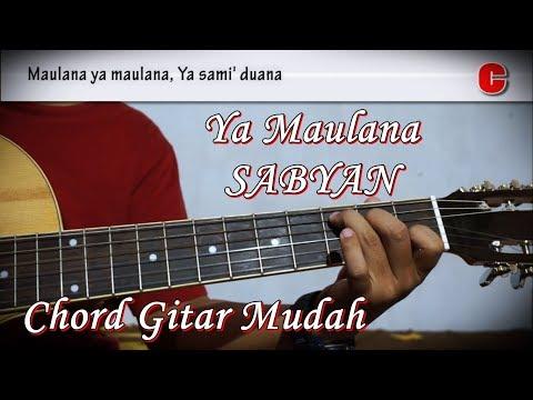 Ya Maulana - Sabyan Nisa dan Lyric serta Kunci Gitar Chord Mudah