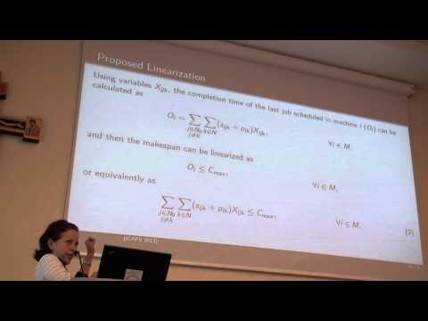 ICAPS 2013: Ada Margarita Alvarez - A Reformulation for the Problem of Scheduling ....