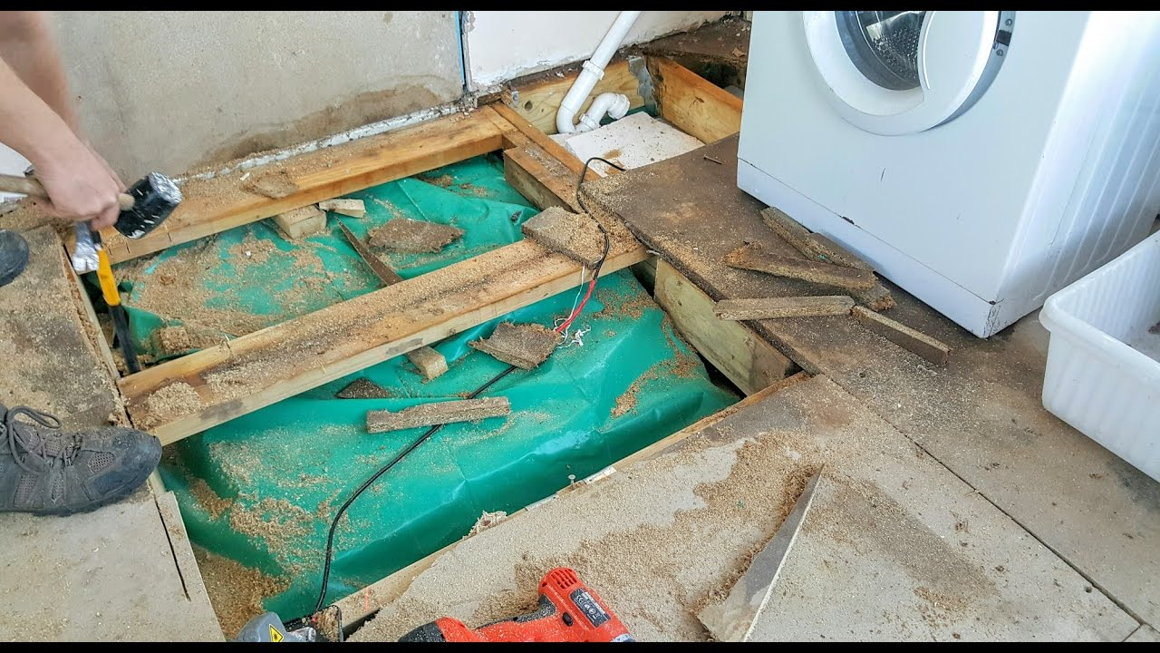 Replacing Water Damaged Chipboard Floorboards