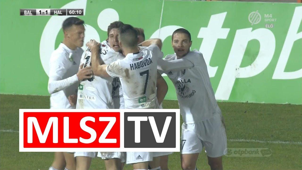 Fekete Ádám gólja az Balmaz Kamilla Gyógyfürdő – Swietelsky Haladás mérkőzésen