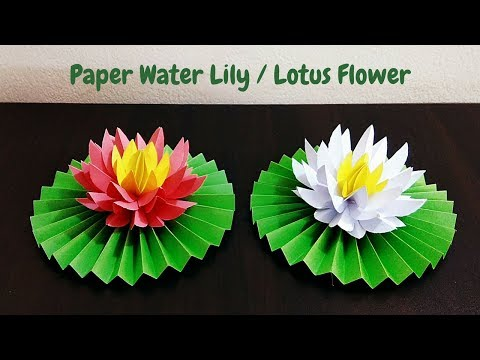 DIY How to Make Water Lily / Lotus Flower with Paper | Paper Flowers | Craftastic