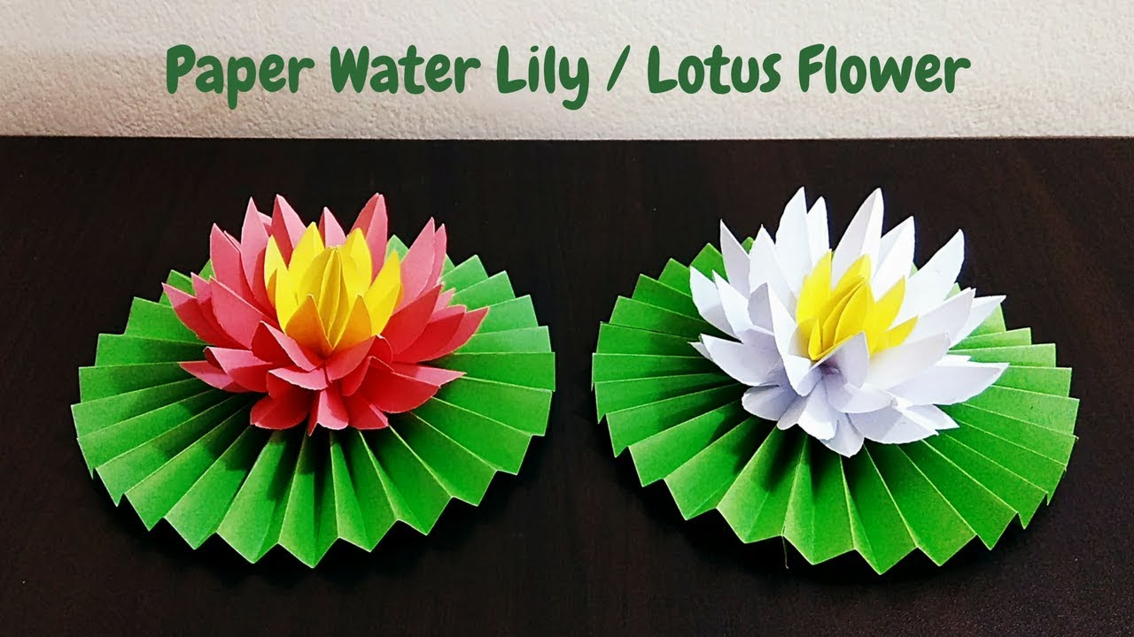 Diy how to make water lily lotus flower with paper paper flowers diy how to make water lily lotus flower with paper paper flowers craftastic izmirmasajfo Gallery