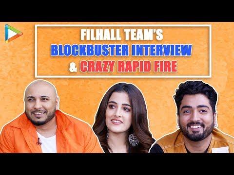 Filhall Team's Amazing Interview Nupur Sanon, B Praak, Jaani Quirky Rapid Fire Akshay Kumar  Srk