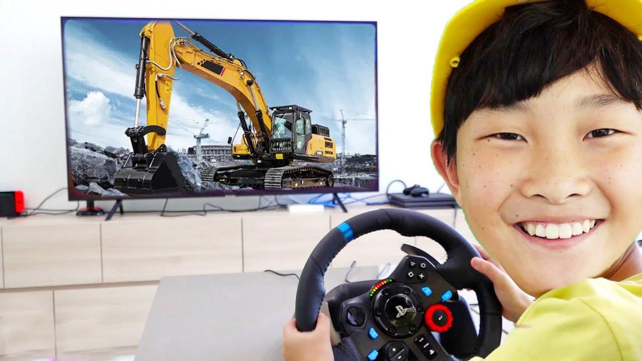 [30분] 예준이의 게임 플레이 중장비 트럭 포크레인 장난감 조립놀이 Game Play with Toy Assembly