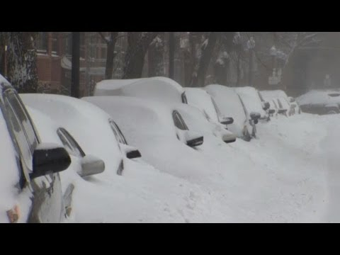 US eastern shore snowed in from Washington to Boston