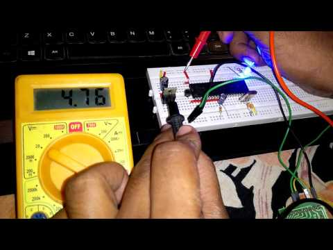 Testing the Voltage On breadboard circuit and troubleshooting
