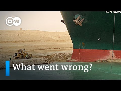 $10 billion in goods currently blocked in Suez Canal traffic jam | DW News