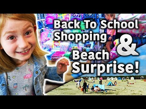 BACK TO SCHOOL SHOPPING & BEACH SURPRISE! 🛍️ 🏖️