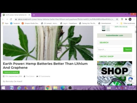Hemp Batteries Are Better Than Lithium Or Graphene Paranormal News