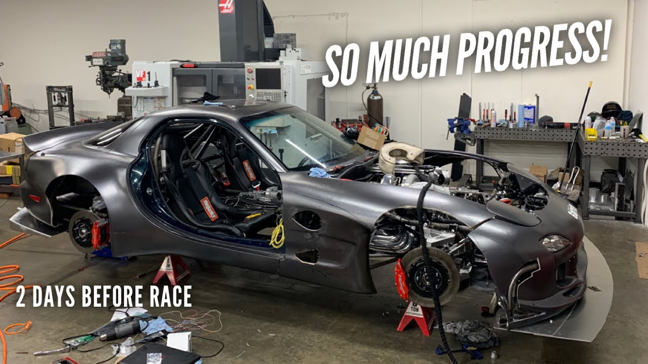 The AWD 4 Rotor gets New Turbo, Body Work, and Wiring before the race!