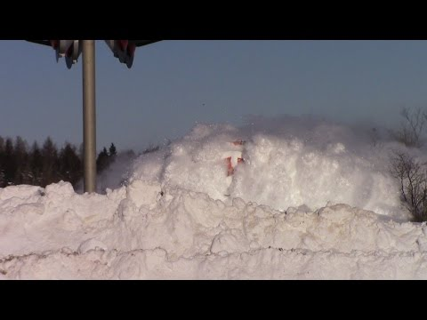 Thumbnail: EPIC CATCH!!! Dashing Thru the Snow - CN Train 406 West at Salisbury, NB (Feb 3, 2015)