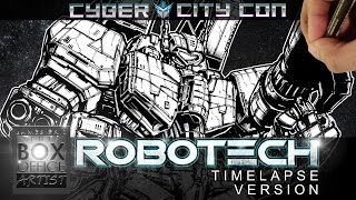 DRAWING ROBOTECH VF-1J SUPER VALKYRIE - CYBER CITY CON EDITION