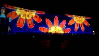 Лазерное шоу на дворцовой площади СПБ 2015