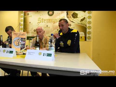 Pressekonferenz - VFC Plauen gegen 1. FC Magdeburg 2:2 (1:0) - www.sportfotos-md.de