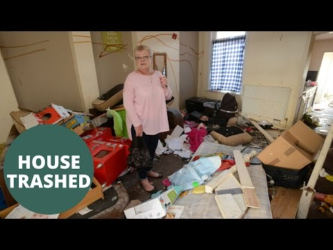 Landlady shocked to find every room of her house totally trashed