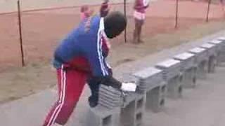 584 Cement Bricks Broken By Hand in only 57.5 Seconds!