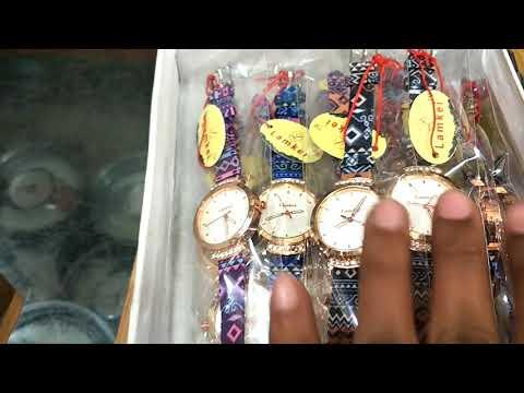 घड़ियां खरीदें मुफत  के भाव में || wholesale market of watch || Branded Watches Rolex Rado G Shock