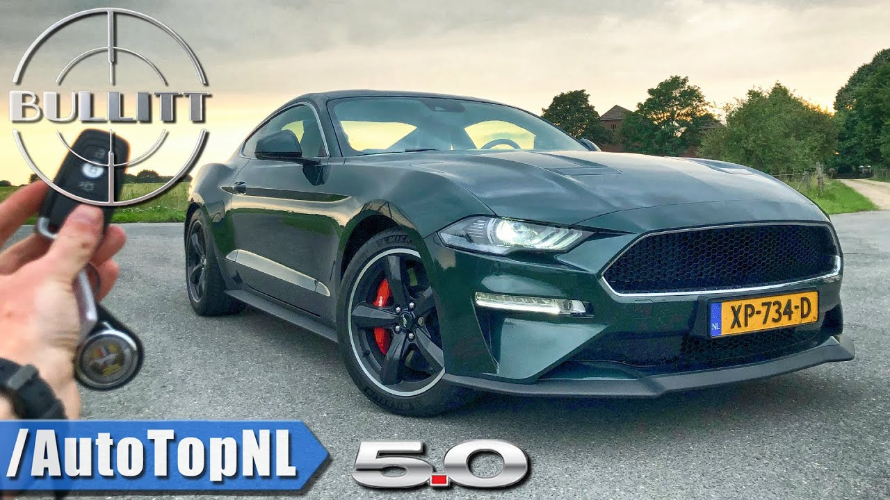 2020 ford mustang bullitt - review pov test drive on autobahn  u0026 road by autotopnl