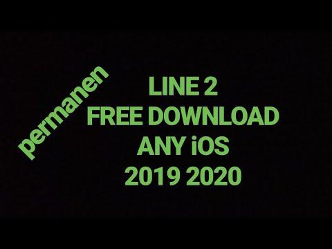 cara download 2 line di ios 2019 permanen ! NEW LINE 2 in iOS