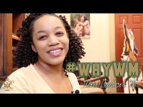 #whyWM: Tiera Lanford '16