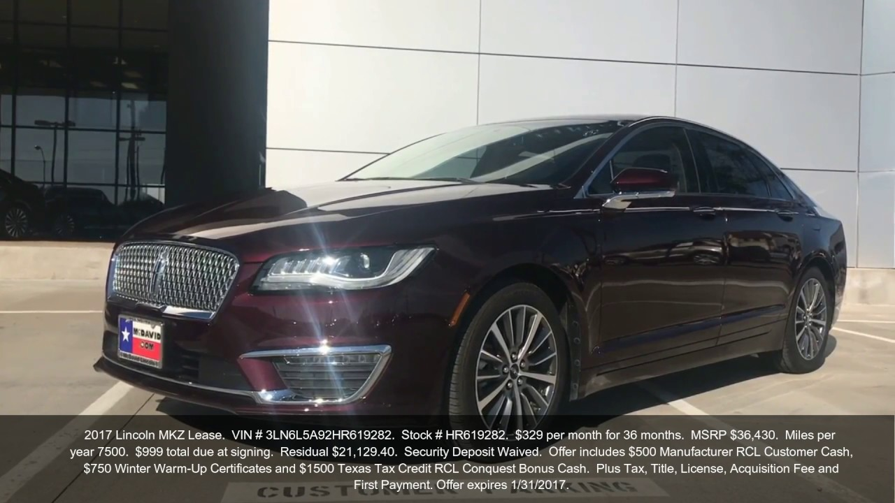 2017 Luxury Lincoln Lease Offers