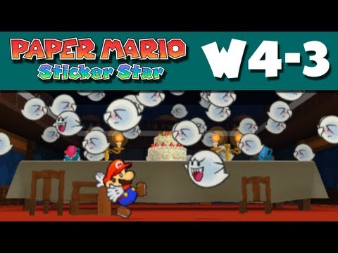 Paper Mario Sticker Star - W4-3 - The Enigmansion (Nintendo 3DS Gameplay Walkthrough)