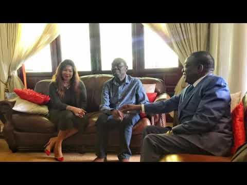 Mnangagwa Visits Ailing Morgan Tsvangirai