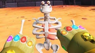 INFINITY GAUNTLET Destroys Skeletal GLADIATORS! - Modded Gorn Gameplay - HTC Vive VR