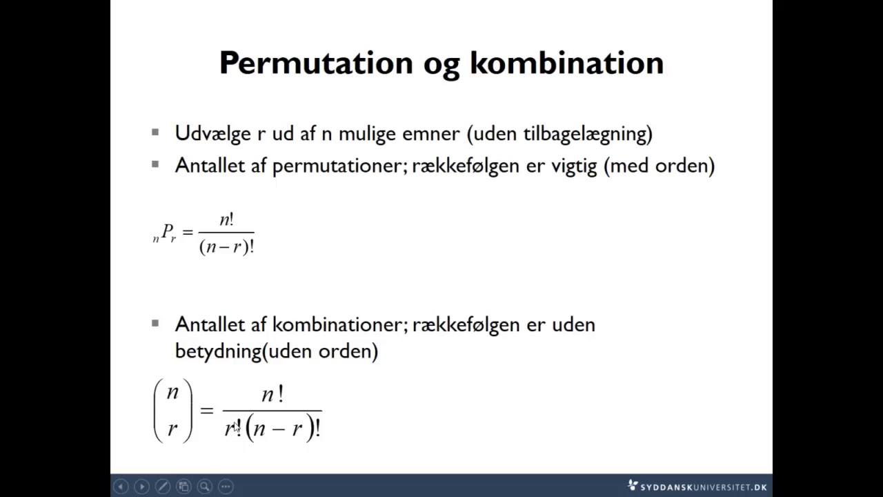 Lektion 1-4 Kombinatorik