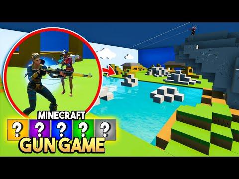 MINECRAFT GUN GAME in Fortnite!